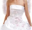 Wedding portrait of the bride-angel. Studio shooting